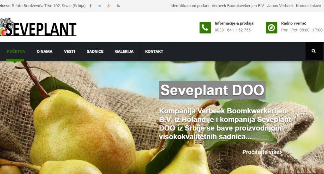 Dobrodošli na web sajt firme Seveplant DOO